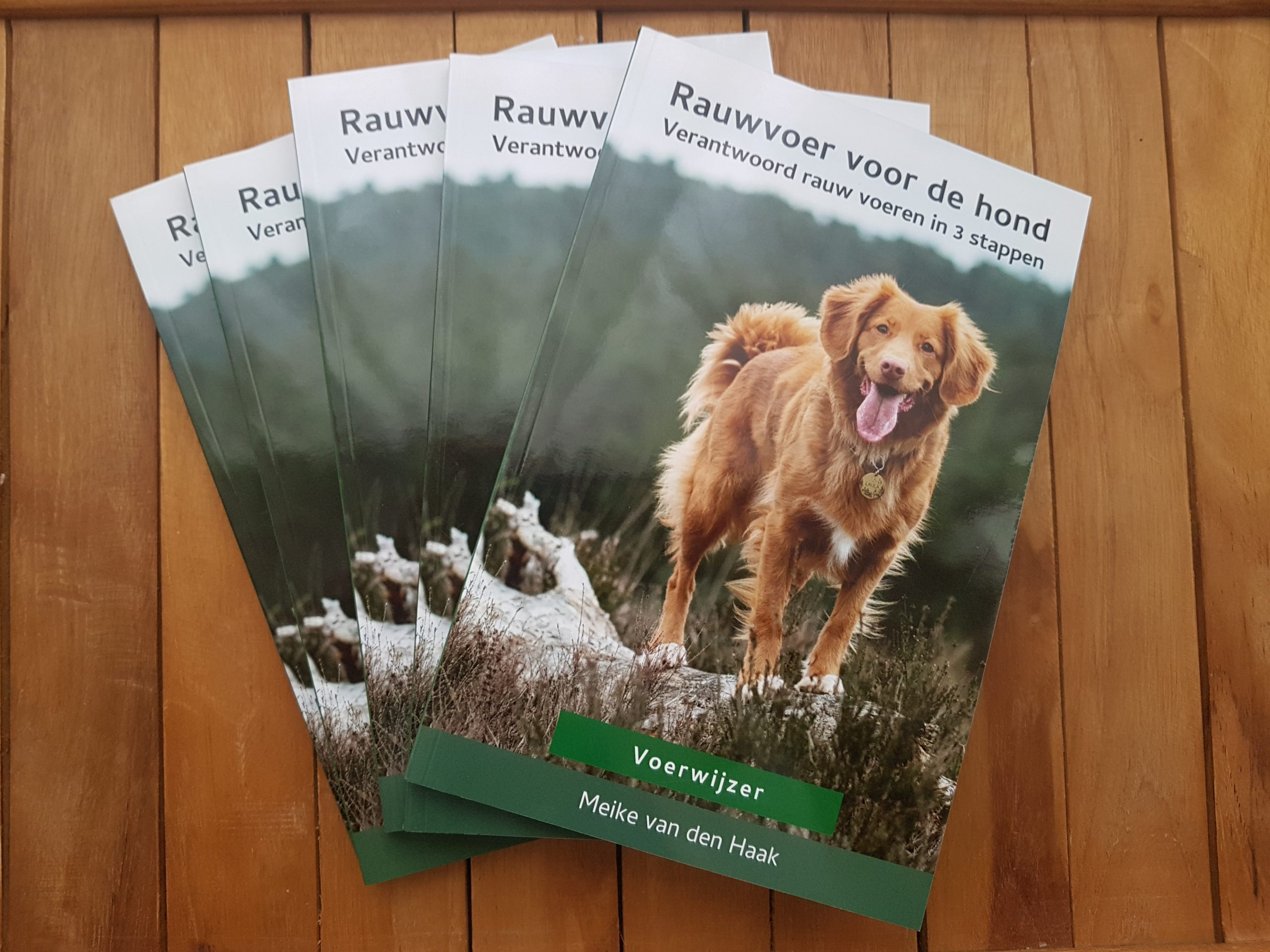 Stapeltje boeken Rauwvoer voor de hond Voerwijzer